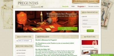 Startseite von Preguntas